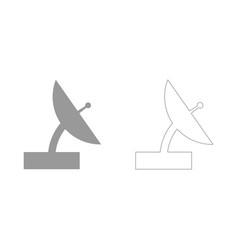 Satellite set icon vector