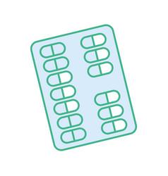 Silhouette medical pharmaceutical capsules vector