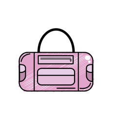 Sport bag to save the clohes vector