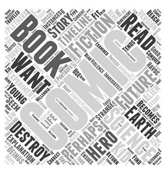 The science fiction of comic books word cloud vector