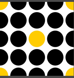 Tile pattern with black and yellow polka dots vector
