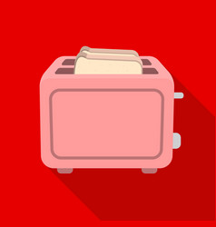 toaster icon in flat style isolated on white vector image