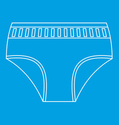 Woman underwear icon outline style vector