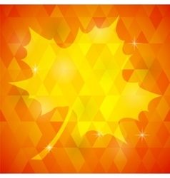 Yellow Mosaic Autumn Leaf vector image vector image