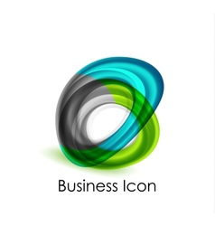Abstract business icon vector image