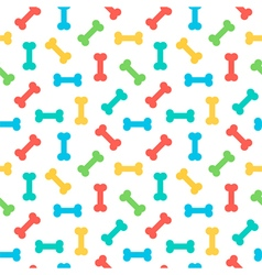 Colorful bones seamless pattern background vector