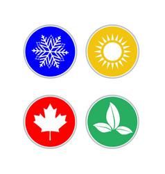set of modern season colored icons vector image