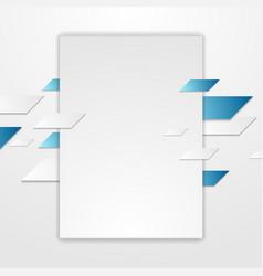 Blue grey tech corporate flyer background vector