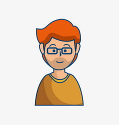 Ginger man icon vector