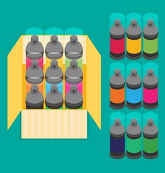 spray paint can flat icon vector image