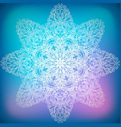 Decorative ornament snowflake vector
