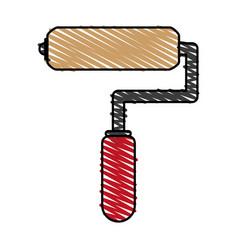 paint roller cartoon vector image