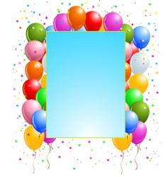 balloon banner vector image