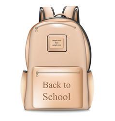 school bag realistic back to vector image