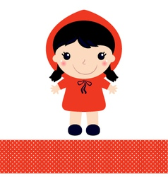 Little red riding hood isolated on white vector