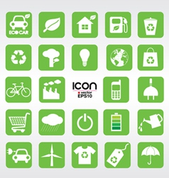 24 Ecology icons set EPS10 vector image