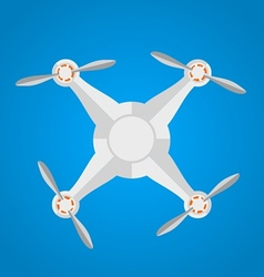 Flat icon for gray quadrocopter vector