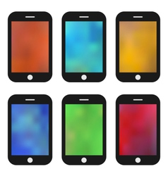 Set of colorful wallpaper for mobile phones vector
