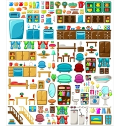 Big set of furniture vector