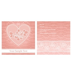 floral background with lace for greeting card vector image