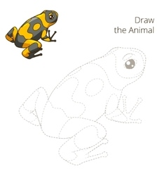 Draw the animal frog educational game vector