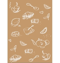 Tea st background light brown vector