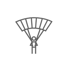 Skydiving line icon vector