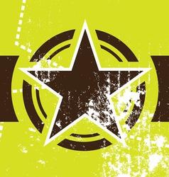 grunge star retro background vector image