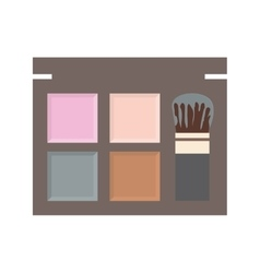 Make up and cosmetic powder icon graphic vector