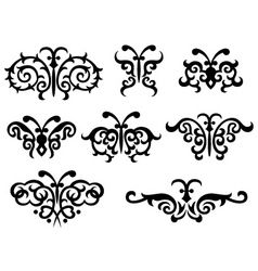 abstract scroll butterlfy vector image vector image