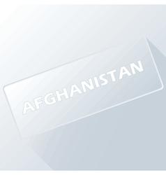 Afghanistan unique button vector
