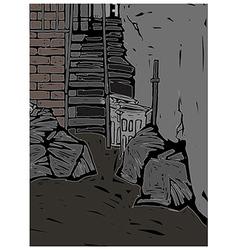 Alleyway scene vector