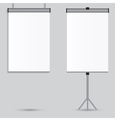 Blank paper poster on white wall eps-10 vector image vector image