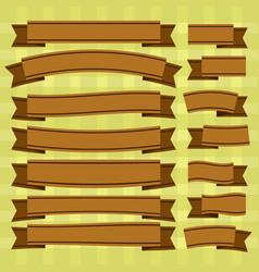 Brown ribbons vector