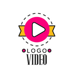 cinema or video company logo template creative vector image