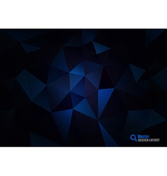 Dark Blue Triangles vector image vector image