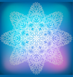 Decorative ornament snowflake vector