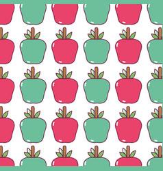 Delicious apple fruit background design vector