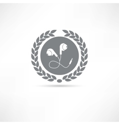earphone icon vector image