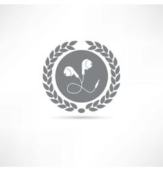 earphone icon vector image vector image