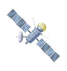 Earth satellite sputnik icon cartoon style vector