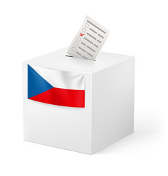 Election in czech republic ballot box with vector