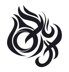 fire abstract icon vector image