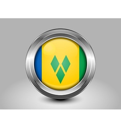 Flag saint vincent and the grenadines round icon vector