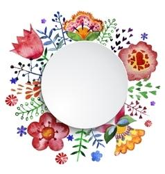 floral composition watercolor vector image