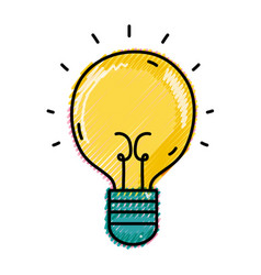 Grated light bulb idea to creative invention vector