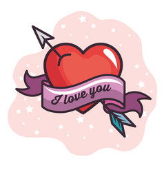 i love you design vector image