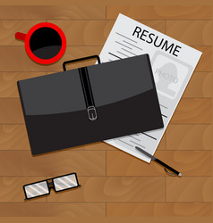 job search top view vector image vector image