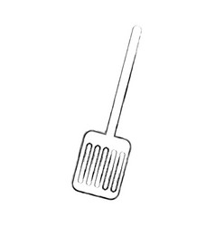 Kitchen spatula isolated icon vector