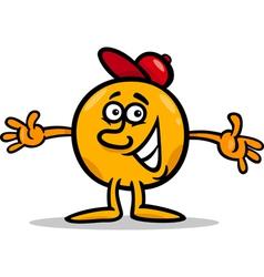 Mister ball cartoon character vector